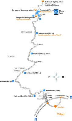 Villacher alpenstrasse Map, Alps, Location Map, Maps