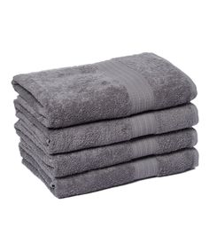 Gray Goza Bath Towel - Set of Four