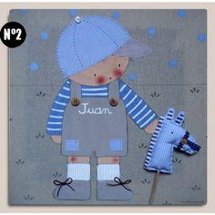 Cuadro infantil personalizado: Niño con caballito