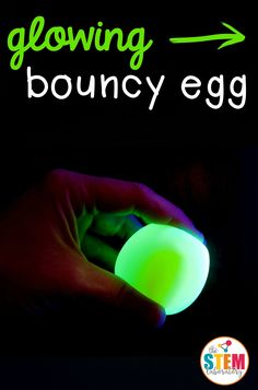 What could be better than making a naked bouncing egg?! Making a glowing one, of course!  This activity teaches little scientists about egg anatomy and osmosis takes just a few minutes to set up but is seriously egg-citing! Getting Ready To prep, I first gathered my supplies: An egg {one for each highlighter color} Clear glass Vinegar Highlighters Making the Bouncy Egg Making a glowing bouncy