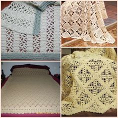 20 Lace Crochet Designs for Afghans from @AllFreeCrochetAfghanPatterns