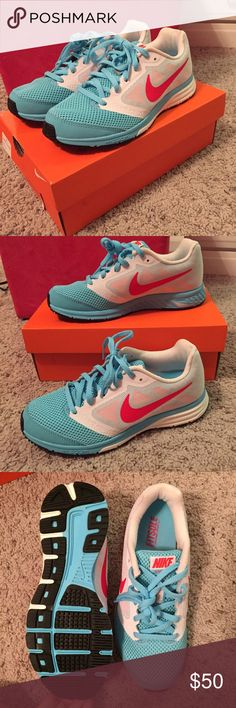 NIKE running shoes with FitSole Women's NIKE running shoes with FitSole! Brand new with box, no blemishes or marks. Smoke free home. Feel free to ask questions! Nike Shoes Athletic Shoes