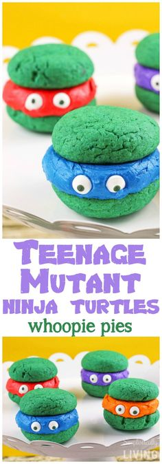 Teenage Mutant Ninja Turtle whoopie pies!?? This TMNT sweet treat recipe is a must-try.