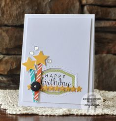 Pickled Paper Designs Candles with stars caught my eye