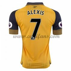 Arsenal Fotbalové Dresy 2016-17 Alexis 7 Venkovní Dres