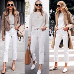 White cropped jeans Source by Pippafilippa jeans outfit summer Cropped Jeans Outfit, White Pants Outfit, Outfit Jeans, White Cropped Pants, White Jeans Winter Outfit, White Jeans Summer, White Denim, White White, Mode Outfits