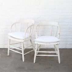 Vintage White Captain Chairs