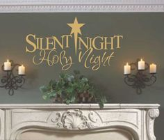 Vinyl Wall Lettering Silent Night Holy Night Christmas Quote Decoration