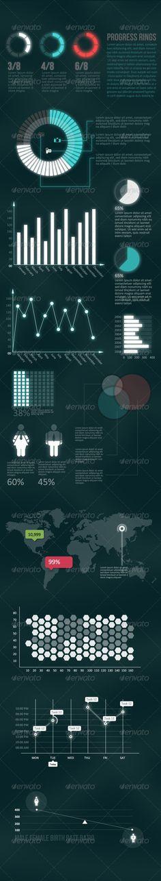 Futuristic  - Infographic Elements Pack