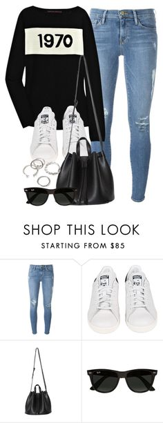 """""""Style #11478"""" by vany-alvarado ❤ liked on Polyvore featuring Frame Denim, Bella Freud, adidas, Ray-Ban and Forever 21"""