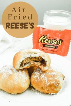 Reese's peanut butter cups in the air fryer? Yes, please! This simple and delicious recipe for air fryer Reese's features a full-sized peanut butter cup wrapped in a yummy dough and air fried to perfection.