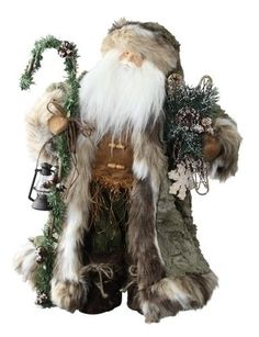 "18"" Happy Holidays Mountain Man Santa Claus Christmas Figure. #SantaClaus #Santa #Claus #Christmas  #Figurine #Decor #Gift #gosstudio .★ We recommend Gift Shop: http://www.zazzle.com/vintagestylestudio ★"