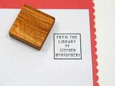 Custom  Charles Rennie Mackintosh Inspired Ex Libris Bookplate Olive Wood Stamp