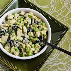 Kalyn's Kitchen: Leftover Chicken Pesto Salad Recipe with Edamame (or Peas)