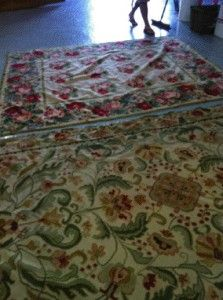 Call the rug experts  We were able to treat the rugs with a special enzyme to eliminate the smell and they are being washed as we speak. We love when we can make our customers happy once again.