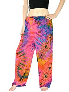 Orient Trail Womens Tiedye Straight Leg Pajama Dance Yoga Pants ML Nebula Pink *** You can find out more details at the link of the image.