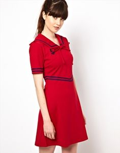 Pop Boutique Sailor Dress I have it in blue. Now I want it in red.