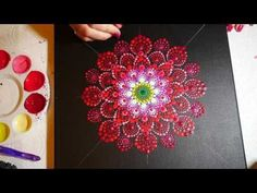 How to paint dot mandalas #6- Peacock design - YouTube