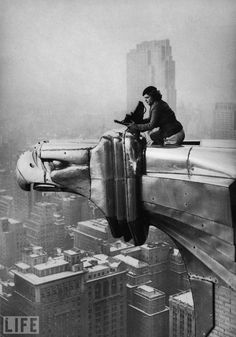 Margaret Bourke-White, photographer -  at work