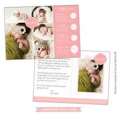 Photography Marketing Postcard   Little Ones   Photoshop templates for photographers by Birdesign