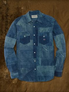 Printed Patchwork Denim Shirt - Classic-Fit Sport Shirts - RalphLauren.com