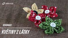 Dekorace: Květiny z látky Textiles, Brooch, Make It Yourself, Creative, Blog, Jewelry, Dyi, Gardening, Youtube