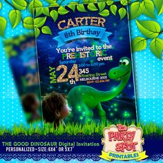 The Good Dinosaur Digital Personalized Invitation 48e1e38fa