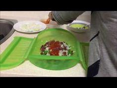 Guisantes con jamón en estuche de vapor Lekue - YouTube Electronic Cigarette, Yummy Food, Healthy Recipes, Meals, Vegetables, Cooking, Ethnic Recipes, Kitchen, Youtube