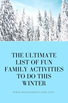 Fun family activitie