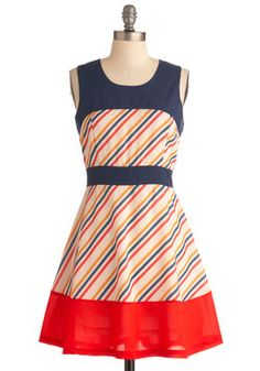 Candy Stand Dress, #ModCloth on sale for $15.99. It'd pair with a red or navy blazer nicely.
