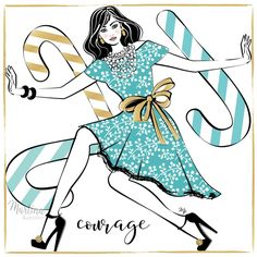 Stylish Advent Calendar DAY 9 🎄 I wish you COURAGE 🌸 To be different, to take risks, to say no. Or yes. Courage to be yourself in every situation and always looking forward to yet another tomorrow. No matter what it may bring 😎 Happy Friday and share some #courage by sharing this post 🌸