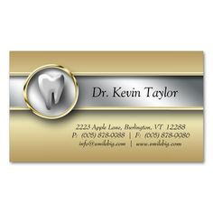 2017 best dental dentist business cards images on pinterest 311 dental molar business card gold metalic silver colourmoves
