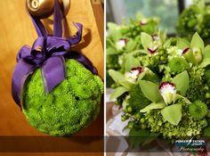 flower girls/bridesmaids bouquets :  wedding green purple Propic1