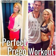 Safe Pregnancy Workout For A Fit Pregnancy. #Pregnancy #Workout and #Core pregnancy tips | Fitness & Health | Alexa Jean