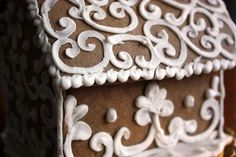 gingerbread house piping | gingerbread house and we used all the candy we could find in the house ...