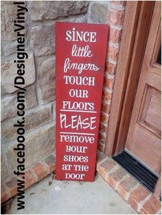 Cute sign for homes with babies.