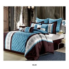 12-Piece Set: Embroidered Bedding Collection - Assorted Styles at 67% Savings off Retail!