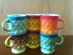 Hey, I found this really awesome Etsy listing at https://www.etsy.com/listing/167033446/fire-king-kimberly-coffee-cups