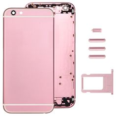 [$22.52] Full Assembly Replacement Housing Cover for iPhone 6, Including Back Cover & Card Tray & Volume Control Key & Power Button & Mute Switch Vibrator Key(Pink)
