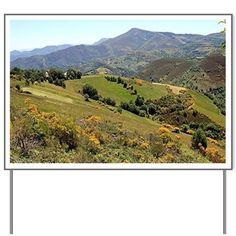 Mountains near OCebreiro, El Camino, Sp Yard Sign on CafePress.com