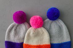Knitting Projects, Knitting Patterns, Free Knitting, Lotus Flower Colors, Pom Pom Tutorial, Earflap Beanie, Flap Hat, Pom Pom Maker, Purl Soho