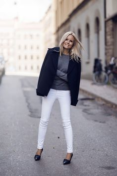 Breaking the rules: White jeans