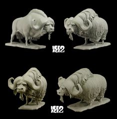 Character Design - Creatures - buffalo AndreasBlasich-Sculpts-5