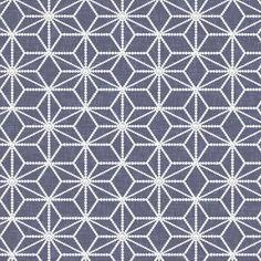 Hemp leaf pattern pearls on denim gray fabric by su_g on Spoonflower - custom fabric