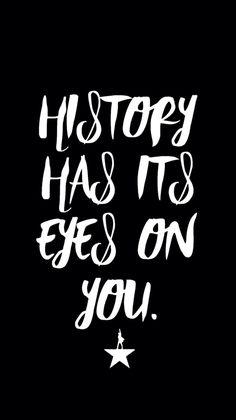 Hamilton / Washington / background / typography / background / iPhone 6 / history has its eyes on you