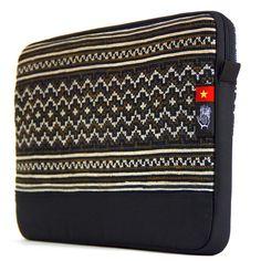 "Vietnam 5 Dep Sleeve for MacBook Pro 15"" - Socially Responsible Laptop Bags by Ethnotek - Direct Trade - Fair Trade - Social Entrepreneurs - Handmade Textiles - Global Artisans - Vietnamese Textiles - Travel Sleeve - Wanderlust - MacBook - Laptop Case - www.EthnotekBags.com"