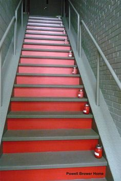 Ombre painted stair technique