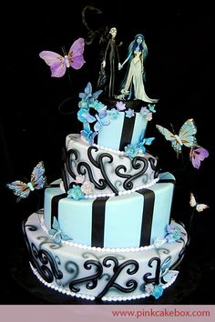 Halloween Theme Wedding Cakes