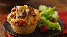 Sloppy Joe's in biscuit cups.  Really delicious, and a fun way to make an oridinary dinner, less boring!