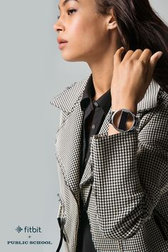 Break the rules & make a statement with high-fashion accessories designed by Public School for Fitbit Alta. Love Fashion, High Fashion, Fitbit Bands, Fitness Wristband, Wearable Device, Fitness Watch, Fitbit Alta, Fitness Tracker, Stay Fit